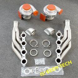 Exhaust Header T4 T76 AR96 Turbo Kits for Small Block V8 LS LS1 LS2 LS3 LS6 LSX