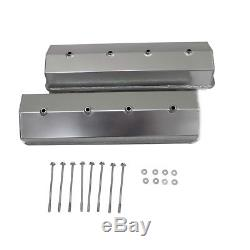 Fabricated Aluminum Valve Covers For SBC Small Block Chevy Center Bolt No Hole