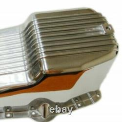 Finned Polished Aluminum Oil Pan Fit 80-85 Small Block SBC Chevy 305 327 350 5.7