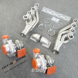 Fit 4.8 5.3 5.7 6.0L 6.2L LS GM T4 AR. 80/. 96 Oil Turbo+Manifold+Elbows Adapter
