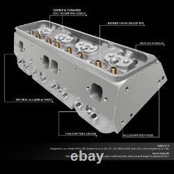 Fit Chevy Small Block 350 SBC 200cc Aluminum Bare Cylinder Head 68cc Straight