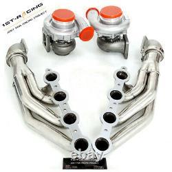 Fit LS1 LS6 LSX GM 4.8L 5.3L 5.7L T4 AR. 80/. 96 Oil Turbo+Manifold+Elbows Adapter
