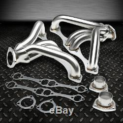 For Chevy Small Block Hugger 262-400 305 Angle Plug Head Exhaust Manifold Header
