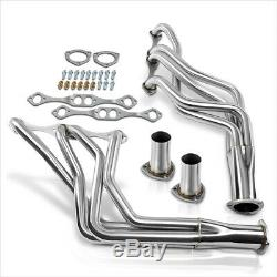 For Chevy Small Block SBC V8 Stainless Steel Long Tube Exhaust Header Manifold