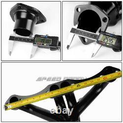 For Chevy/gmc Small Block 305-454 V8 Black Steel Hugger Header/exhaust Manifold