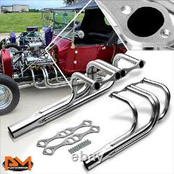 For Small Block Chevy 265-400 V8 T-bucket Roadster Rod Stainless Manifold Header