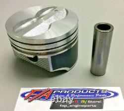 For Small Block Chevy 350 Engine Flat Top Coated Pistons 8 Silvolite 3437HC+. 030