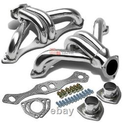 Gm Chevy Small Block Hugger 283 305 327 350 400 V8 Sbc Stainless Exhaust Header