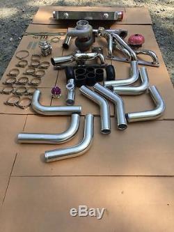 Gt45 15pc T4 Turbo Kit+manifold+intercooler Chevy Small Block Sbc Camaropickup