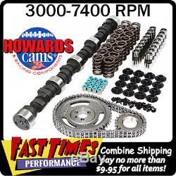 HOWARD'S SBC Small Block Chevy Solid Flat Tappet 291/299 535/555 105° Cam Kit