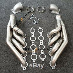 Headers+Cast Elbows Fits V8 LS1/LS2/LS3/LS6 LSX 4.8L, 5.3L, 5.7L, 6.0L, 6.2L Turbo