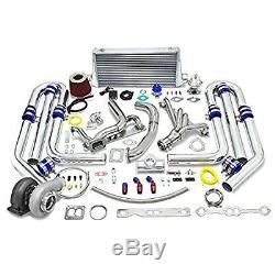 High Performance Upgrade GT45 T4 13pc Turbo Kit Chevy Small Block SBC Engine