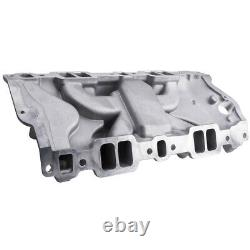 Intake Manifold Dual Plane Fit Chevy 350 400 SBC Small Block