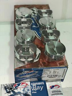 JE/SRP Pistons 454 Big Block Chevy, Small Dome, 4.250 Stroke, 4.310 Bore- New