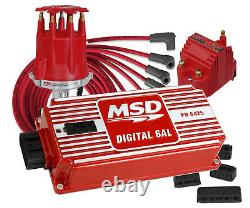 MSD Complete Small Block Chevy Igniton Kit SBC 6AL Coil Pro-Billet Distributor
