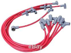MSD Ignition 35599 8.5mm Red Spark Plug Wires Chevy Small Block HEI Under Header