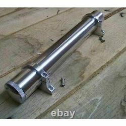 Machined Radiator Overflow Tank aluminum big small block chevy motor bbc sbc