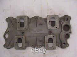 Man-a-fre Small Block Chevy 4 Deuce Intake Manifold Rare 4x2 S. B. C