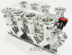 Maximizer 50mm Individual Throttle Body (ITB) for Small Block Chevy 350 withHorns