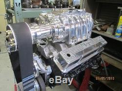 Mooneyham New complete Blower kit 4-71 show polished small block Chevy hot rod