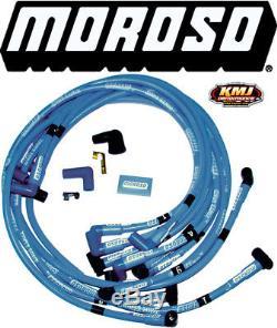 Moroso 72407 Blue Max Spark Plug Wires Small Block Chevy HEI Under Header 90 SBC