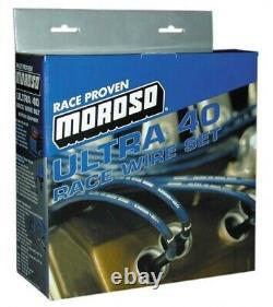 Moroso 73664 Ultra 40 Spark Plug Wires SBC Small Block Chevy 350 383 400 OVC HEI