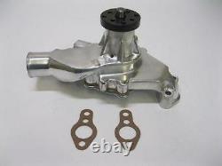 NEW Polished High Volume Small Block Chevy Short Water Pump 283 327 350 SBC SWP