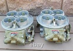 NOS Holley Dominator Carburetors Pair List 6214 Individual Runner Application IR