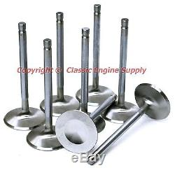 New Stainless Steel Valve Set +. 100 Long 2.02 Intake & 1.6 Exhaust Chevy sb