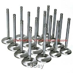 New Stainless Steel Valve Set +. 100 Long 2.080 Intake & 1.6 Exhaust sb Chevy