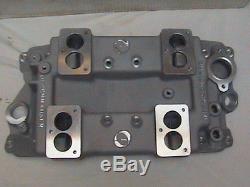 Offenhauser Small Block Chevy 4x2 Aluminum Intake Offy New 3 Bolt
