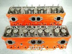 Original 307/327/350 Chevy Cylinder Heads 1969-76 OEM V-8 Matching Set #3927185