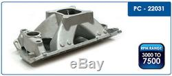 PC SBC Small Block CHEVY High Rise SATIN Aluminum Intake Manifold 350 383 400