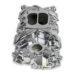 Polished Aluminum Intake Manifold Small Block Chevy 55-95 SBC 327 350 383 400