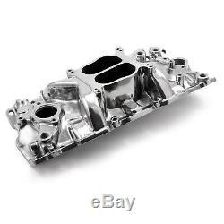 Polished Small Block Chevy 283 350 383 Aluminum Intake Manifold