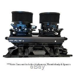 Proflow M64245 Chevrolet Small Block Fabricated EFI Intake Suit 2 x 4150 Throttl