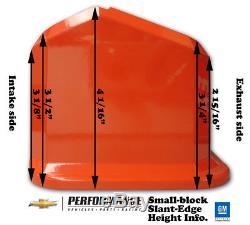 Proform 141-925 Slant Edge Valve Covers Small Block Chevy Natural Cast Aluminum