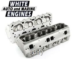 SBC 200/64cc ASSEMBLED ALUMINUM CYLINDER HEADS FOR HYD ROLLER CAM WAM-274