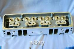 SBC 205cc X 64cc Bare Aluminum Cylinder Heads. RPC SB400S With Parts. NEW