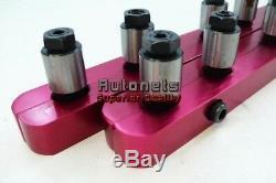 SBC 350 Red Aluminum Small Block Chevy 7/16 Stud Girdle Polylocks Spring loaded