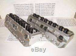 SBC Aluminum Heads 190cc Runners Small Block Chevy 350 383 400 FREE SHIPPING