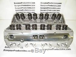 SBC Aluminum Heads 210cc Runners Small Block Chevy Angle Plug 350,383 Free Ship