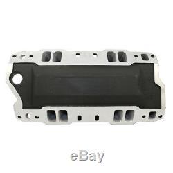 SBC Chevy High Rise Black Aluminum Intake Manifold 350 400 Single Plane Modified