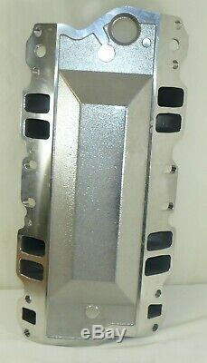 SBC Chevy Small Block Chevy Polished Aluminum Dual Plane Air-Gap Intake 350 400