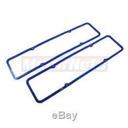 SBC Chrome Fabricate Aluminum Valve Cover Tall Breather Gasket Small Block Chevy
