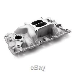 SBC SMALL BLOCK CHEVY Aluminum Intake Dual Plane 1500-6500 RPM Range 327,350,383