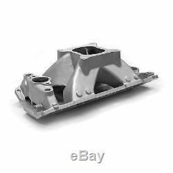 SBC SMALL BLOCK CHEVY Aluminum Intake Satin 350 Shoot Out Series High Rise 383
