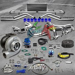 Sbc Stainless Steel Manifold Gt45 Turbo Kit Small Block Chevy 350 302 280 13 Pc