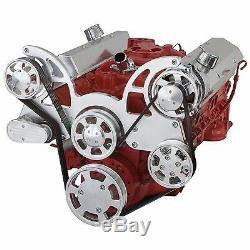 SBC Serpentine Pulley Conversion Kit Small Block Chevy 350 Power Steering SWP