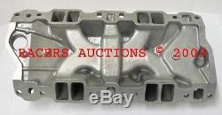 SBC Small Block Chevy 305 327 350 400 Polished Aluminum Intake Manifold Hi-Rise